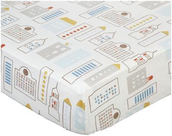 Dwell Furniture DwellStudio Skyline Printed Fitted Crib Sheet