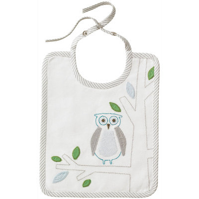 DwellStudio Kids Embroidered Bib Owls Sky - Final Sale