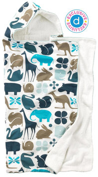 DwellStudio Hooded Towel - Gio Aqua