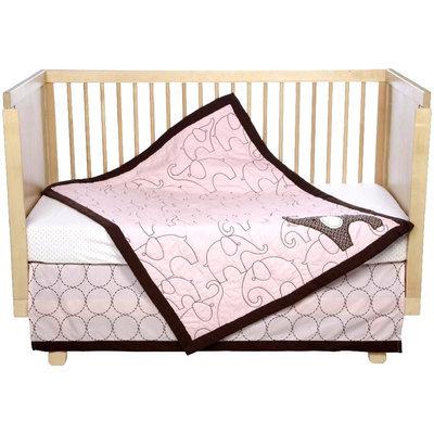Carter's 4 Piece Crib Bedding Set, Pink Elephant