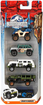 Matchbox Jurassic World 1:64-Scale Vehicle 5-Pack (Styles May Vary)