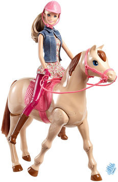 Mattel Barbie Saddle 'n Ride Horse Set