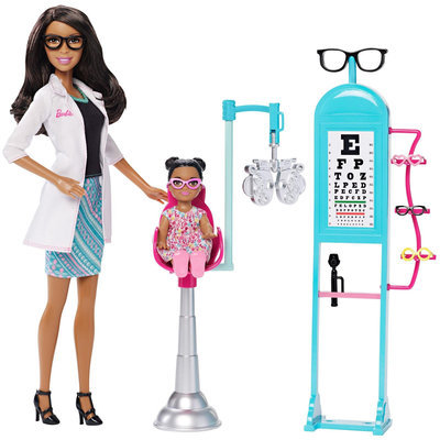 Barbie Careers Eye Doctor Nikki Doll and Playset