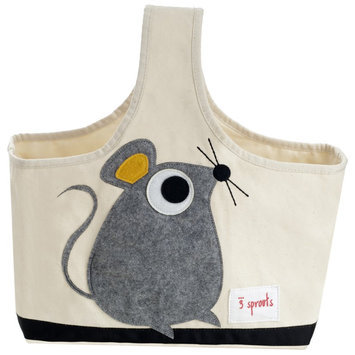 3 Sprouts Gray Mouse Storage Caddy