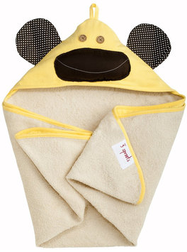 3 Sprouts Hooded Towel - Milo Monkey Yellow