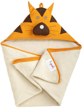 3 Sprouts Hooded Towel - Tito Tiger Orange