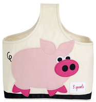 3 Sprouts Pink Pig Storage Caddy