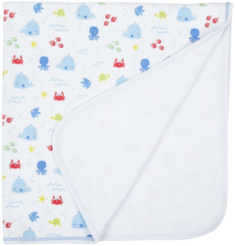 Kissy Kissy Ocean Wonder Print Blanket (Baby) - Blue - 1 ct.