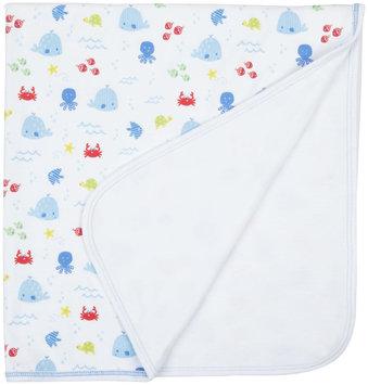 Kissy Kissy Ocean Wonder Print Blanket (Baby) - Blue - 1 ct.