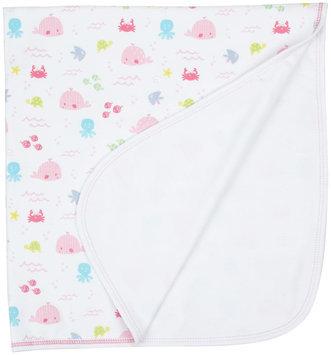 Kissy Kissy Ocean Wonder Print Blanket (Baby) - Fuchsia - 1 ct.