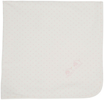 Kissy Kissy Organic Elephant Print Blanket (Baby) - Ecru/Pink - 1 ct.