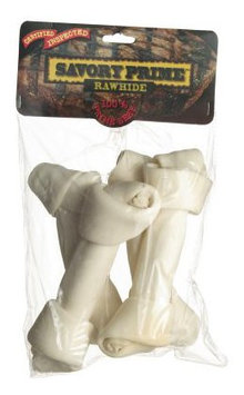 Savory Prime 997 Large Knotted Rawhide Bone Value Pack, White