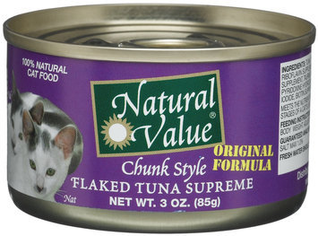 Natural Value Cat Food Chunk Style - Flaked Tuna Supreme