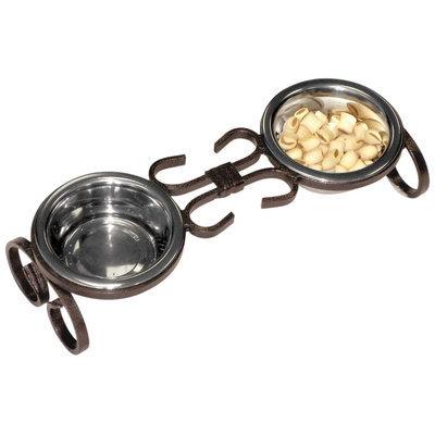 QT Dog Wrought Iron Classic Pet Diner Copper, 1 Pint