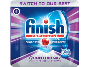 Finish® Quantum Max® with Baking Soda