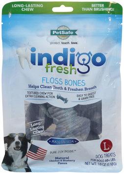 Pet Safe PetSafe Indigo Fresh Floss Bone Dog Treat Large