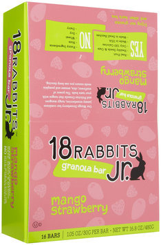 18 Rabbits Granola Bars - Mango Strawberry - 1 oz - 16 ct