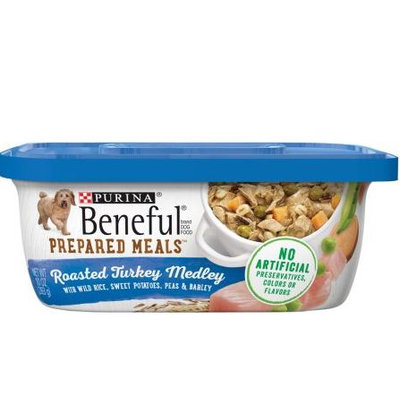 Beneful Wet Dog Food Roasted Turkey Medley With Wild Rice Peas And Barley