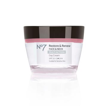 No7 Restore & Renew FACE & NECK MULTI ACTION Day Cream