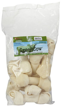 Green Cow Rawhide Bone - 6-7
