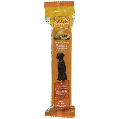 Ferrera Farms Ultra Chewy Tropical Papaya Flavor Bones - 2.8oz