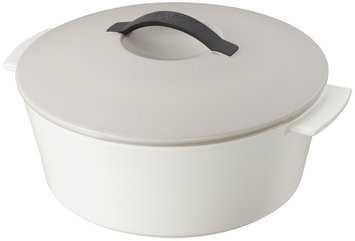 Revol 647744 9 in. Taupe Round Cocotte
