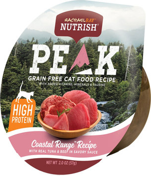 Rachael Ray™ Nutrish® PEAK Ultra Premium Wet Food for Cats Coastal Range™ Recipe With Real Tuna & Beef in Savory Sauce