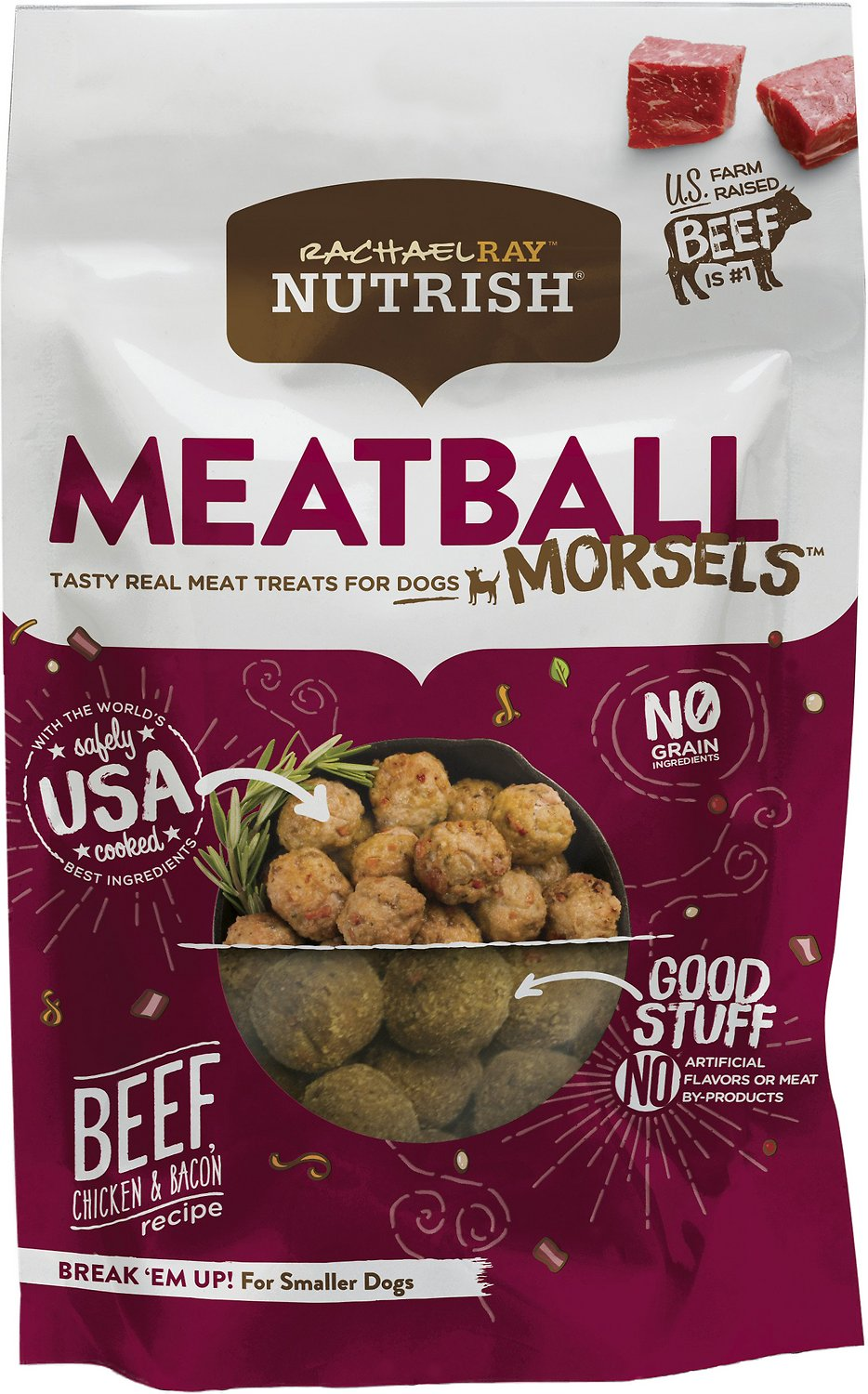 Rachael Ray™ Nutrish® Tasty Real Meat Treats for Dogs Meatball Morsels