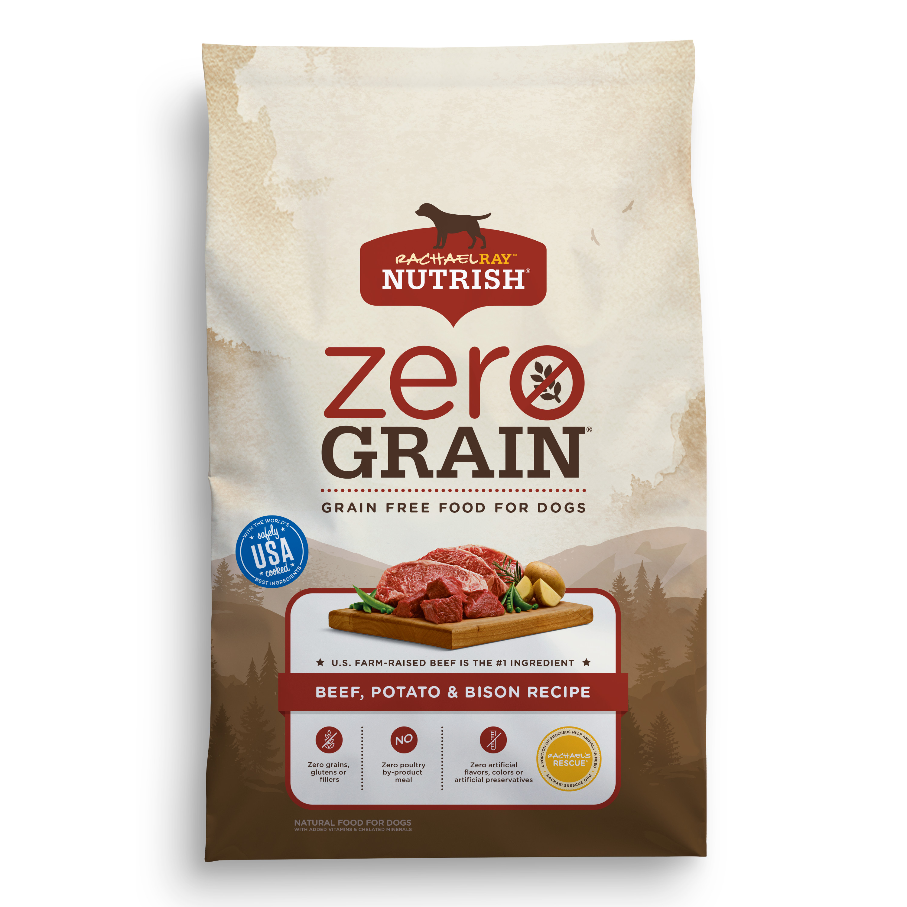 Rachael Ray™ Nutrish® Zero Grain Beef, Potato & Bison Recipe