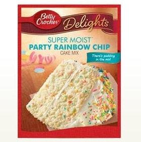 Betty Crocker™ Super Moist™ Delights Rainbow Chip Cake Mix