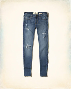 Hollister Ripped Medium Wash Low-Rise Super Skinny Jeans