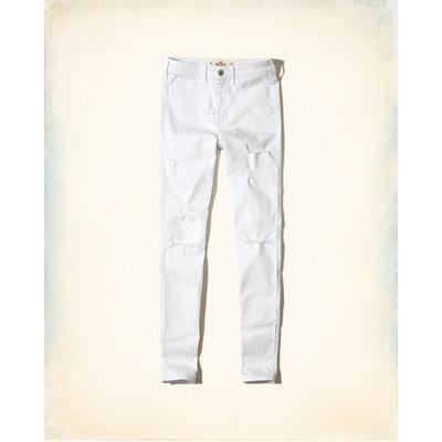 Hollister Ripped White High-Rise Super Skinny Jeans Reviews