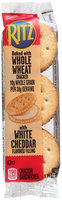 Nabisco RITZ Crackers Whole Wheat Sandwich And White Cheddar