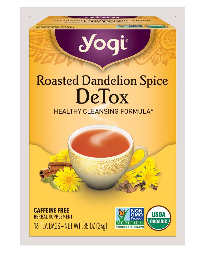 Yogi Tea's Yogi Organic Roasted Dandelion Spice DeTox Herbal Supplement Tea