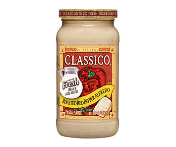 CLASSICO Roasted Red Pepper Alfredo Pasta Sauce