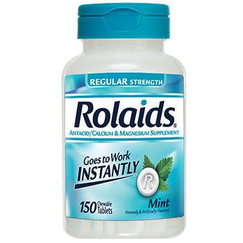 Rolaids Regular Strength Antacid Chewable Mint Tablets