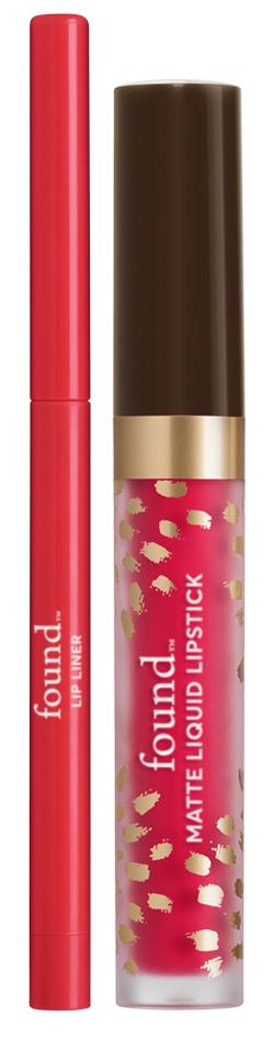 FOUND Matte Liquid Lipstick + Lip Liner with Evening Primrose Oil