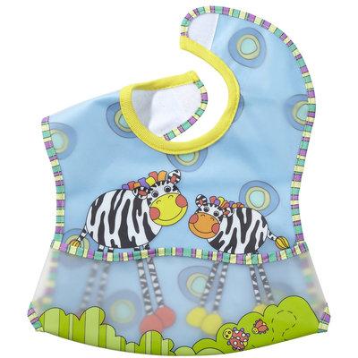 Sassy EZ-Clean Pocketed Feeding Bib (Zebra)