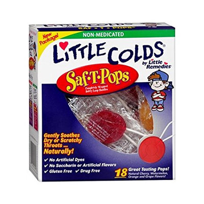 LITTLE REMEDIES® LITTLE COLDS SOOTHING THROAT SAF-T-POPS
