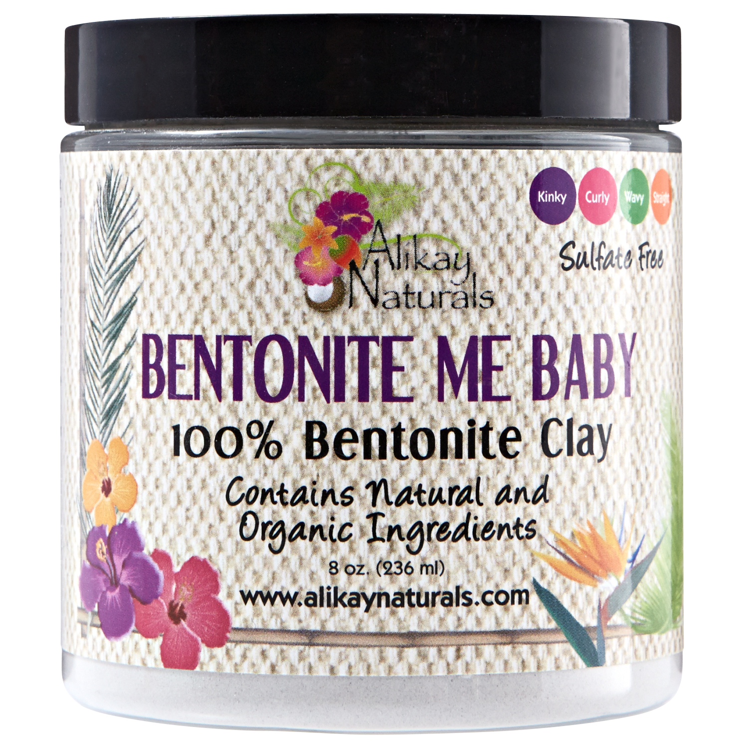 Alikay Naturals Bentonite Me Baby 100% Bentonite Clay - 8 oz