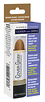 Claudia Stevens Cover That Gray Touch-Up Color Stick Medium Brown