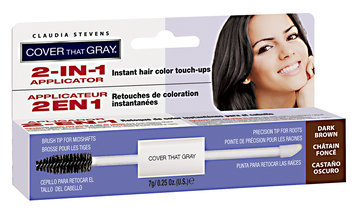 Claudia Stevens Cover That Gray 2-In-1 Applicator Dark Brown