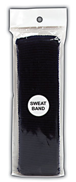 Sally Black Terry Cloth Sweat Band