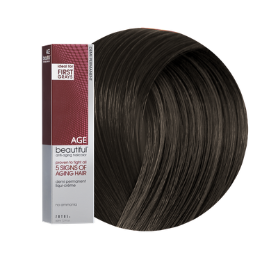 Zotos AGEbeautiful Anti-Aging Demi Permanent Liqui-Creme Haircolor 3N Darkest Brown