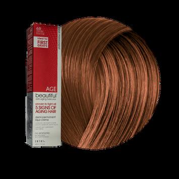 Zotos AGEbeautiful Anti-Aging Demi Permanent Liqui-Creme Haircolor 6R Light Red