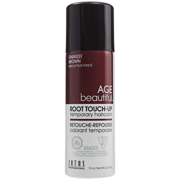 AGEbeautiful Root Touch-Up Sprays Temporary Haircolor Darkest Brown