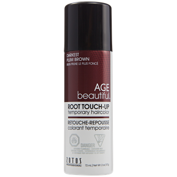 AGEbeautiful Root Touch-Up Sprays Temporary Haircolor Darkest Plum Brown