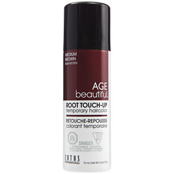 AGEbeautiful Root Touch-Up Sprays Temporary Haircolor Medium Brown