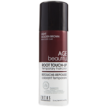 AGEbeautiful Root Touch-Up Sprays Temporary Haircolor Light Golden Brown