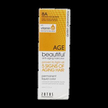 AGEbeautiful Anti-Aging Permanent Liquid Haircolor with Vitamin E 8A Medium Ash Blonde